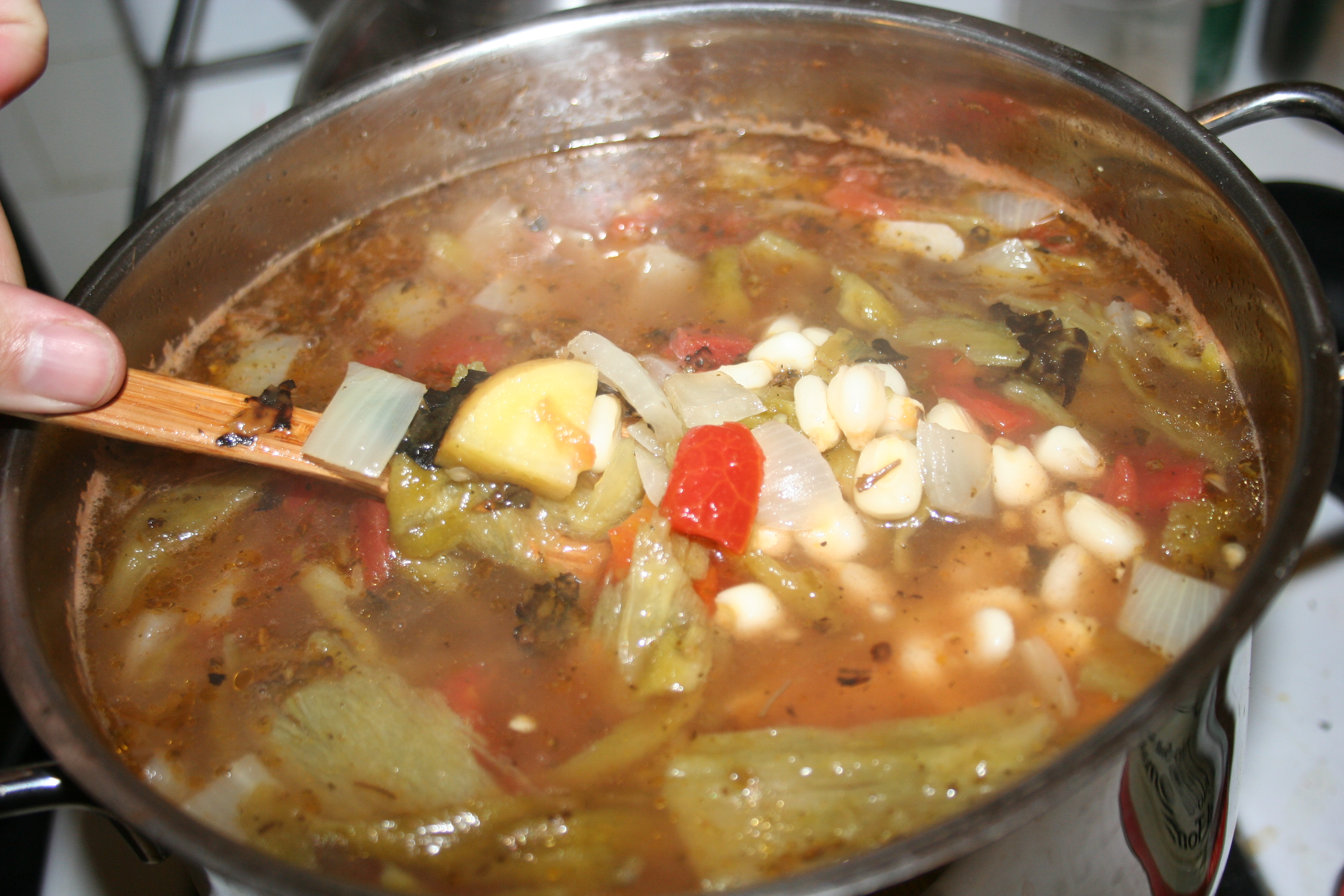 Posole & Vegetarian Green Chile Stew | Adventures in Cooking